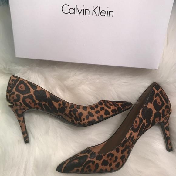 2457be7265e Calvin Klein Shoes - 🌷Calvin Klein Gayle Leopard Pumps 8.5US